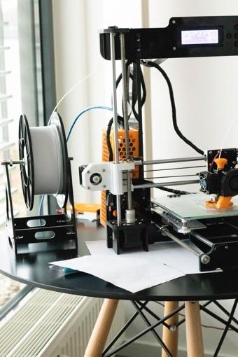 3-D printing in progress