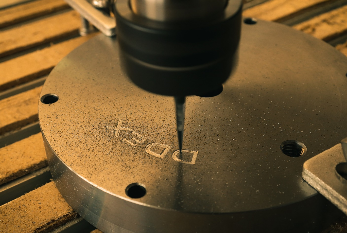 Using a CNC machine to engrave a name on an object