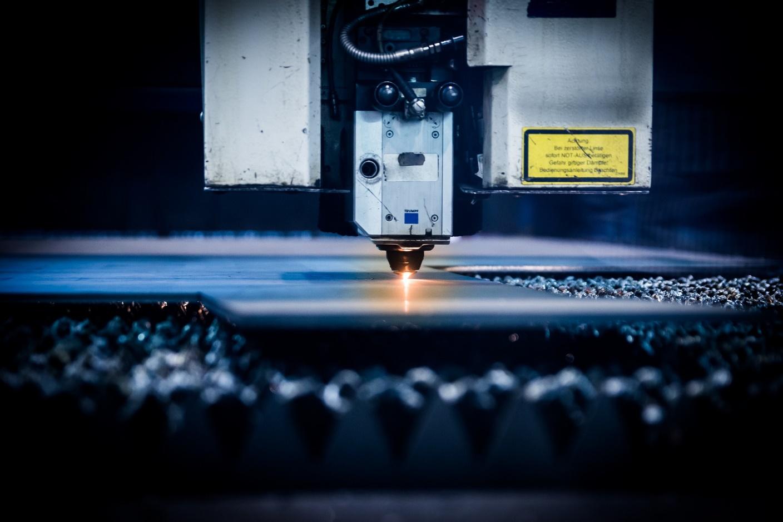 A vertical CNC machine